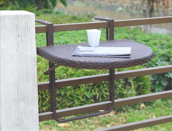 Polyrattan Balkon-Hängetisch AGRA Coffee