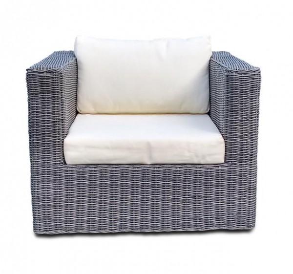 Polyrattan Sessel Skyline grau von GARINO® Premium