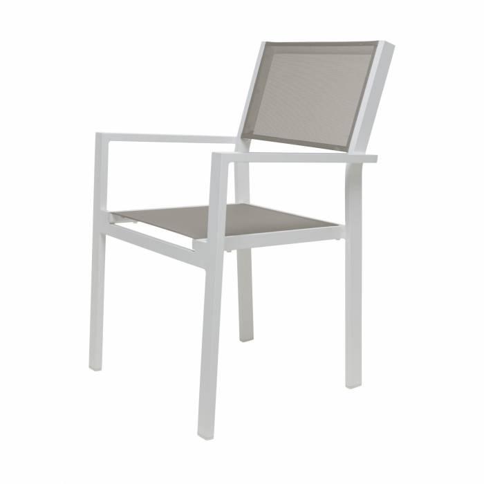 Wohnzimmer Sitzsack Chacos In Weiß Taupe: Jan Kurz Cubic Alu Stapelsessel Weiß Taupe