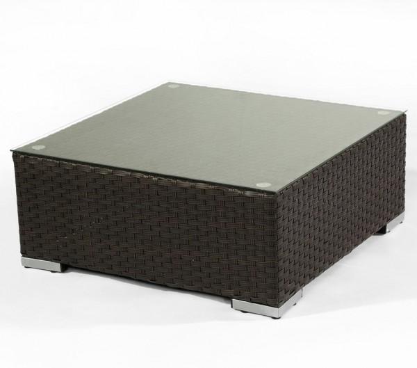 Polyrattan Tisch 5061 braun ohne Glasplatte