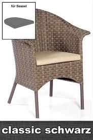 Sitzkissen für Sessel Medelin Dessin classic-anthrazit SonnenPartner