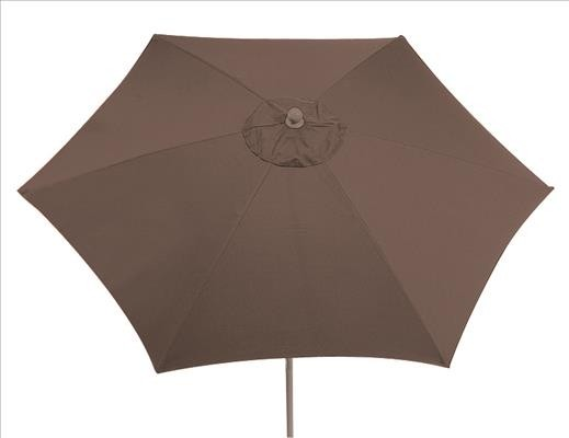 SIENA GARDEN Push Schirm PRO 300 mocca Gestell:champ./Poly:mocca