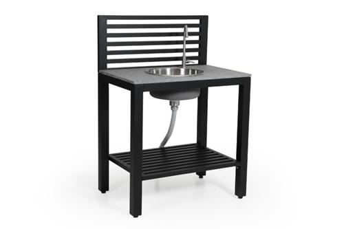 Möbel Für Outdoor Küche : Brafab bellac outdoorküche schwarz inkl armatur und waschbecken